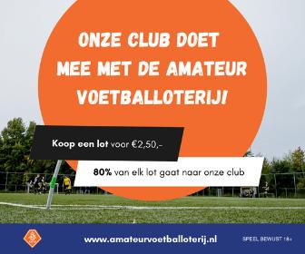 Onze club doet mee met de amateurvoetballoterij!