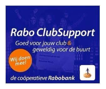 We doen weer mee met RABO ClubSupport !